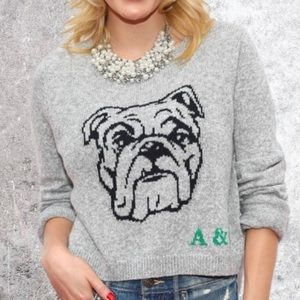 ABERCROMBIE AND FITCH Wool Long Sleeve Crop